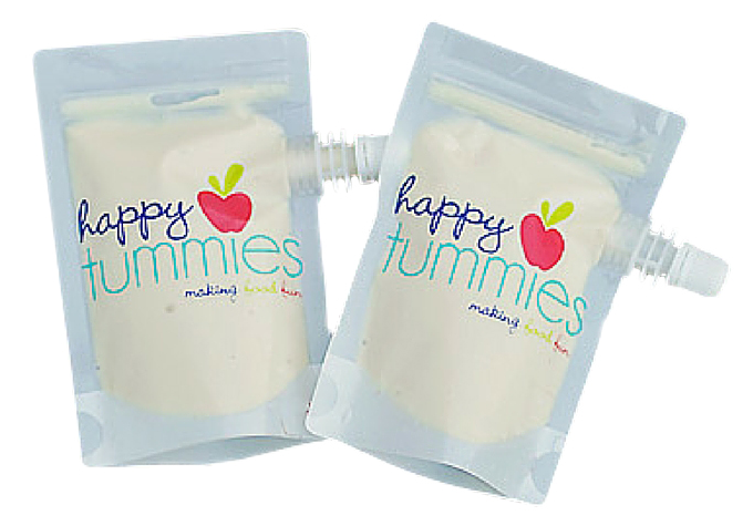 Happy Tummies' Reusable Food Pouches beach mum baby essentials tips tricks