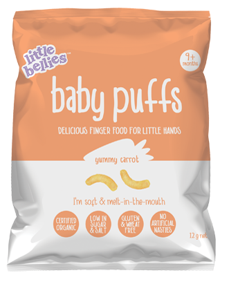 Little bellies yummy carrot baby puffs beach mum baby essentials tips tricks