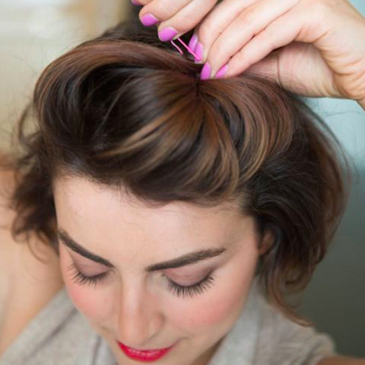 4 Easy-As Hairstyles for New Mums The pick-me-up pompadour Quiff